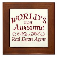 Awesome Real Estate Agent Framed Tile