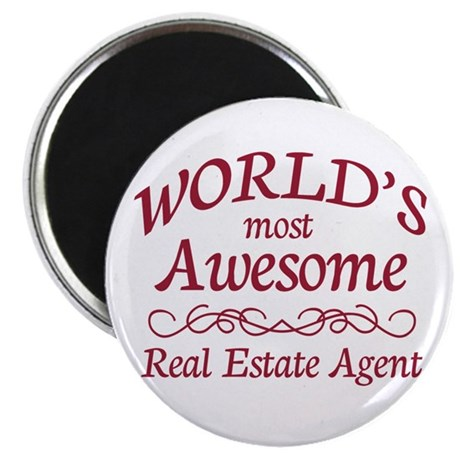 "Awesome Real Estate Agent 2.25"" Magnet (10 pack)"