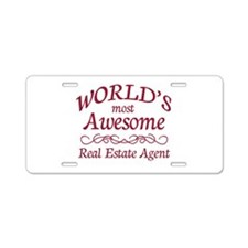 Awesome Real Estate Agent Aluminum License Plate