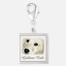 Goldens Rule Silver Square Charm