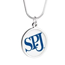 SPJ Circle Silver Round Necklace