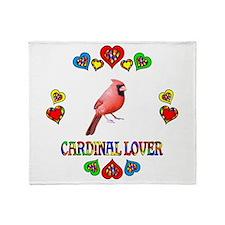 Cardinal Lover Throw Blanket