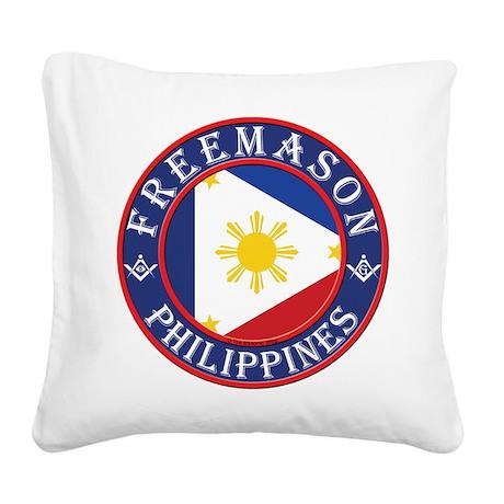 Filipino Masons Square Canvas Pillow
