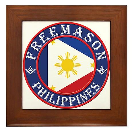 Filipino Masons Framed Tile