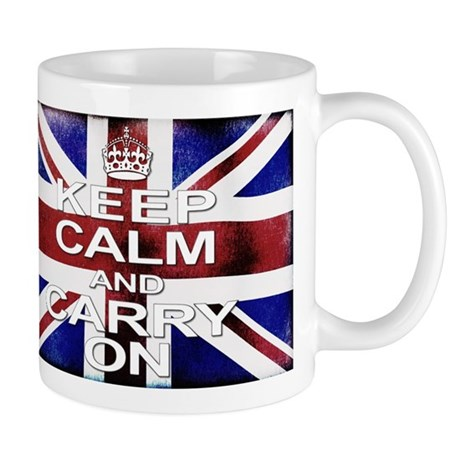 Distressed Keep Calm Carry on Mugs