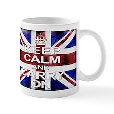Distressed Keep Calm  Carry on Mugs
