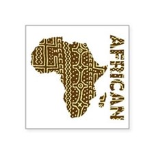 "African Art Square Sticker 3"" x 3"""