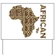 African Art Yard Sign