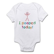 I Pooped Today Fun Infant Bodysuit