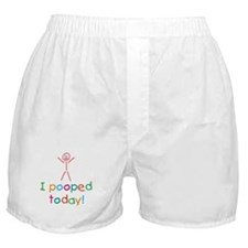 I Pooped Today Fun Boxer Shorts