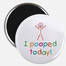 "I Pooped Today Fun 2.25"" Magnet (10 pack)"