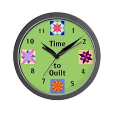 Unique Quilters Wall Clock