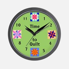 Unique Quilting Wall Clock