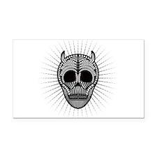 Paleo Wheat Skull Rectangle Car Magnet