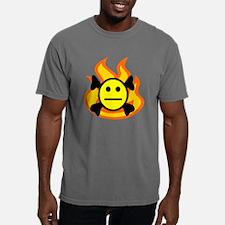 FLAME STRAIGHT SMILE CRO Mens Comfort Colors Shirt