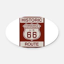 Monrovia Route 66 Oval Car Magnet