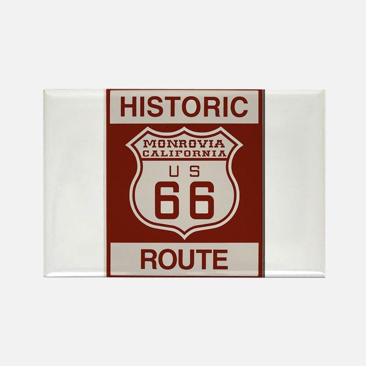 Monrovia Route 66 Rectangle Magnet