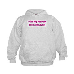 I Get My Attitude from My Aun Hoodie