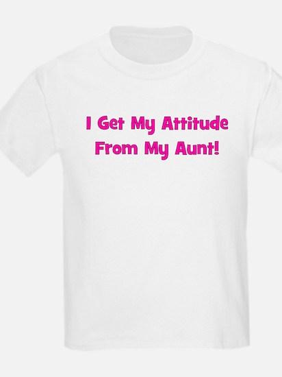 I Get My Attitude from My Aun Kids T-Shirt