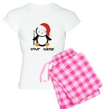 Personalized Flute Penguin Women's Light Pajamas