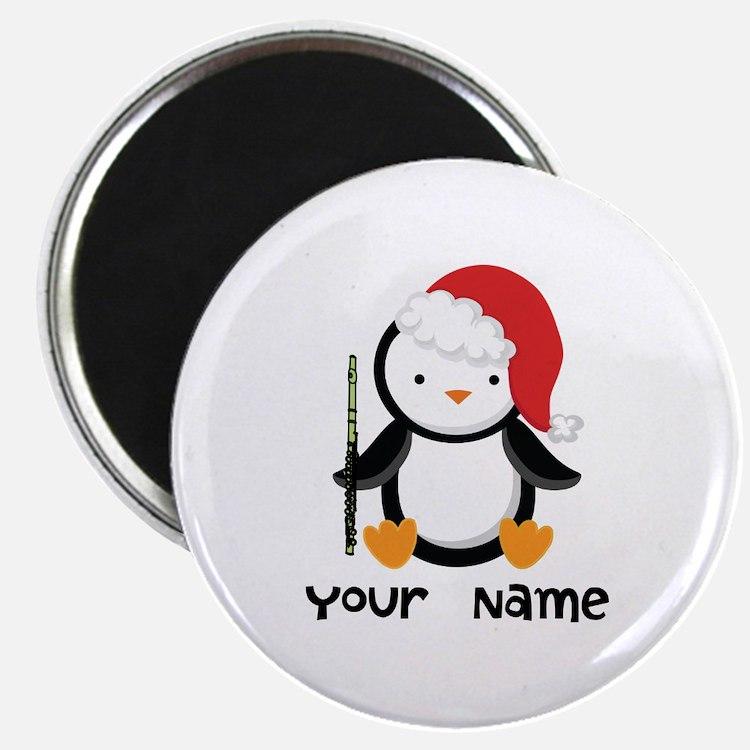 Personalized Flute Penguin Magnet