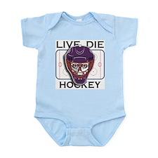 Live, Die, Hockey Infant Bodysuit