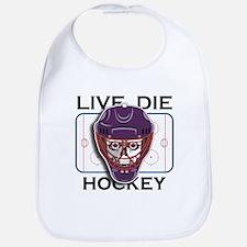 Live, Die, Hockey Bib