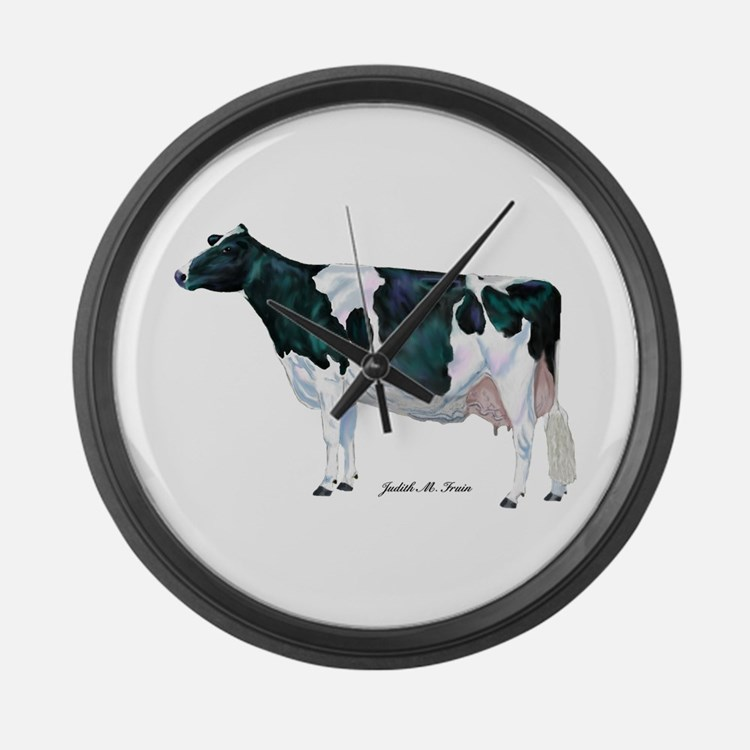 Black and White Holstein Large Wall Clock