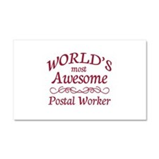 Awesome Postal Worker Car Magnet 20 x 12