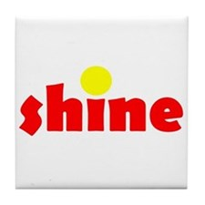 Shine Red Yellow Tile Coaster