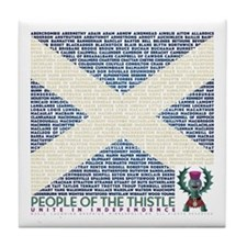 Clan Names Tile Coaster