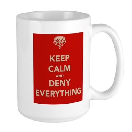 keep-calm-and-deny-eerything Mugs