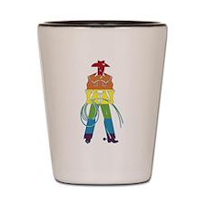 The Gay Cowboy Shot Glass