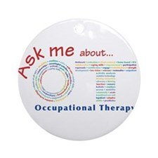 Ask me about OT - Color Ornament (Round)