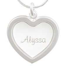 Alyssa Spark Silver Heart Necklace