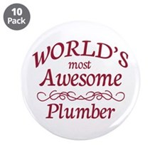 """Awesome Plumber 3.5"""" Button (10 pack)"""