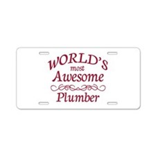 Awesome Plumber Aluminum License Plate