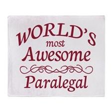 Awesome Paralegal Throw Blanket