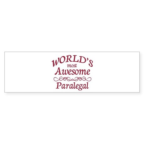 Awesome Paralegal Sticker (Bumper)