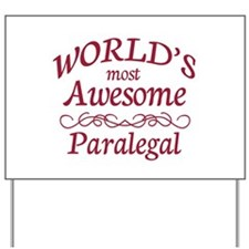 Awesome Paralegal Yard Sign