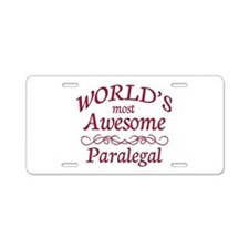 Awesome Paralegal Aluminum License Plate