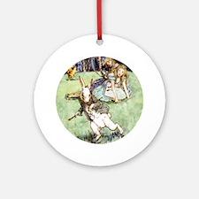 Alice's White Rabbit Distraction Ornament (Round)