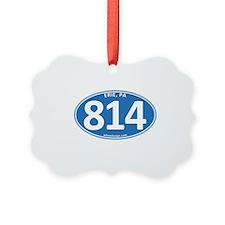 Blue Erie, PA 814 Ornament