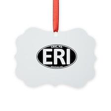 Black Oval ERI Ornament