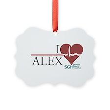 I Heart Alex - Grey's Anatomy Ornament