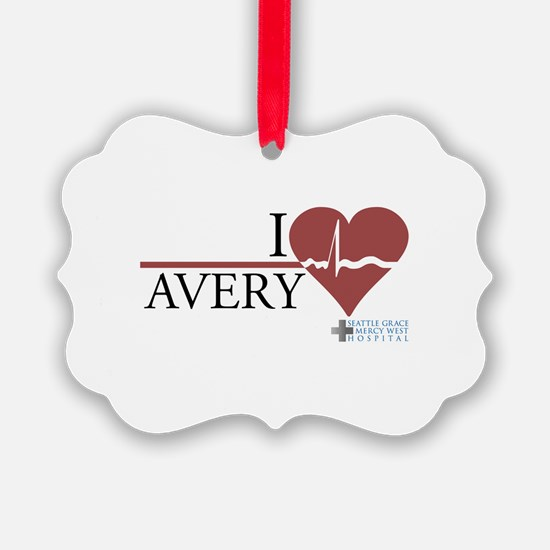 I Heart Avery - Grey's Anatom Picture Ornament