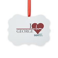 I Heart George - Grey's Anato Picture Ornament