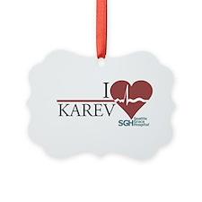 I Heart Karev Ornament