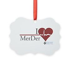I Heart MerDer - Grey's Anato Picture Ornament
