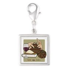 Knit Sip Knit Square Charm